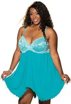 Shirley of Hollywood Plus Size Sexy Full Figure Padded Flirty Lace Babydoll Lingerie