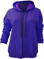 Gildan Ladies/Womens Heavy Blend Vintage Full Zip Hooded Sweatshirt / Hoodie (L)