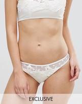 Peek & Beau Bridal Applique Bikini Bottom