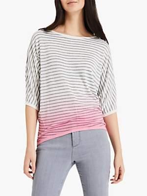 Phase Eight Dani Dip Dye Striped Jumper, Pink