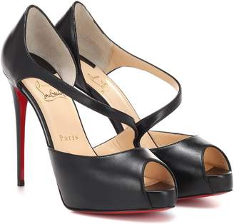 Christian Louboutin Catchy Two 120 peep-toe pumps
