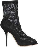 Dolce & Gabbana 105mm Bette Stretch Lace Ankle Boots