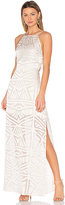 Capulet Anais Halter Maxi Dress in White. - size L (also in )