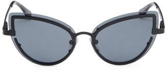 Cat Eye Adulation Gray Sunglasses
