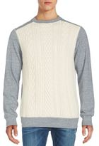Robert Graham Cable-Knit Front Merino Wool Sweater