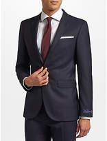 John Lewis Ermenegildo Zegna Super 160s Wool Twill Half Canvas Tailored Suit Jacket, Navy
