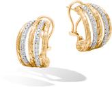 John Hardy Classic Chain Buddha Belly Earring in 18K Gold with Diamond