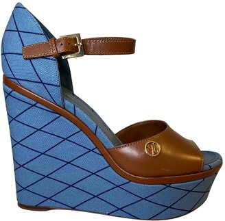 Louis Vuitton Blue Cloth Sandals