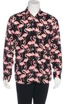 Marc Jacobs 2015 Flamingo Button-Up Shirt