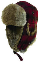 Woolrich Fur Plaid Trapper