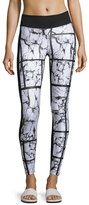 Koral Activewear Emulate Athletic Leggings, Marble/Black