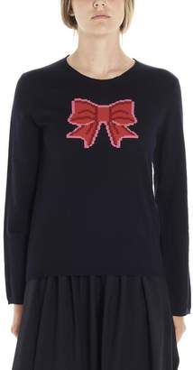 Comme des Garcons Bow Intarsia Knitted Sweatshirt