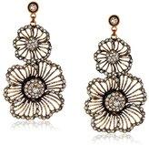 Azaara Crystal Double-Flower Earrings