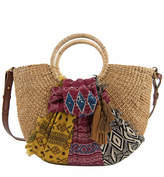 Sam Edelman Jaelynn Straw Paper Basket Shoulder Bag