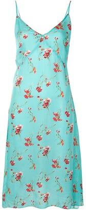 R 13 Floral-Print Slip Dress
