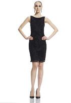 Theia Embellished Bateau Neck Dress 882471
