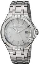 Maurice Lacroix Men's 'Aikon' Quartz Stainless Steel Casual Watch, Color:Silver-Toned (Model: AI1008-SS002-131-1)