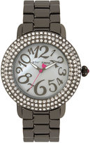 Betsey Johnson Women's Gunmetal Bracelet Watch 42mm BJ00306-07