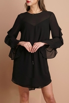 Greylin Ruffled Sleeve Dress