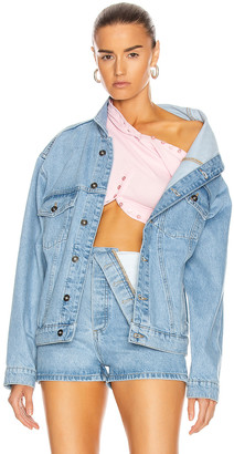 Y/Project Asymmetric Collar Jacket in Ice Blue | FWRD