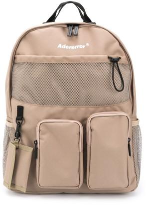 Ader Error Logo-Print Multiple-Pocket Backpack