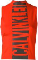 Calvin Klein Jeans logo print tank top - women - Polyamide/Spandex/Elastane/Viscose - L