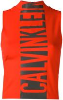 Calvin Klein Jeans logo print tank top - women - Polyamide/Spandex/Elastane/Viscose - XS