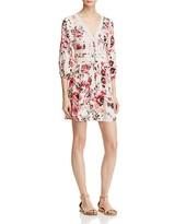 En Creme Long Sleeve Floral Dress