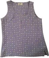 Pierre Balmain Purple Silk Top for Women