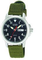 Men's Eco-Drive Green Nylon Strap Watch