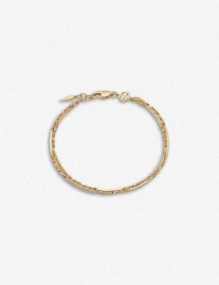 Missoma Isa 18ct yellow gold-plated vermeil bracelet