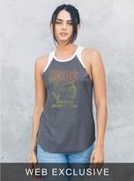 Junk Food Clothing Ac/dc Raglan Tank-jb/ew-m