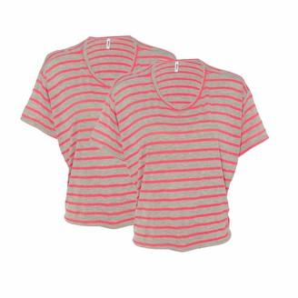 Marky G Apparel Women's Flowy Boxy T-Shirt-2 Pack