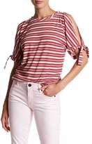 Democracy Cold Shoulder Stripe Tee