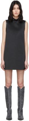 we11done Black A-Line Zipper Short Dress