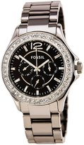 Fossil Women's Dial Polished Chrome Finish Ceramic