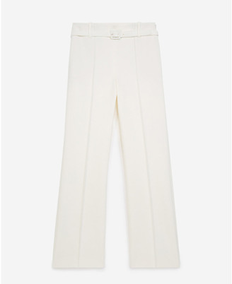 The Kooples Belted straight-leg trousers