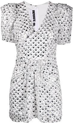 Rotate by Birger Christensen Sequin Embroidered Mini Dress