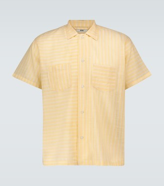 Bode Sheer striped bowling shirt