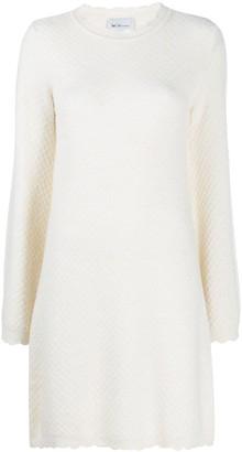 Blumarine Diamond-Knit Mini Dress