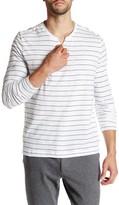 Kenneth Cole New York Long Sleeve Striped Henley Shirt