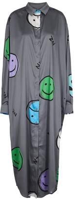 Natasha Zinko Printed Satin Maxi Shirt Dress