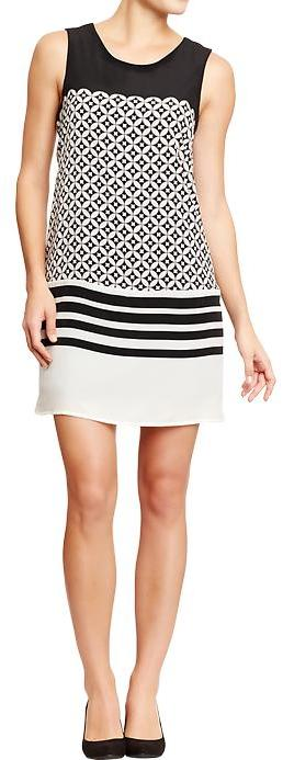 Old Navy Women's Crepe Mixed-Print Shift Dresses