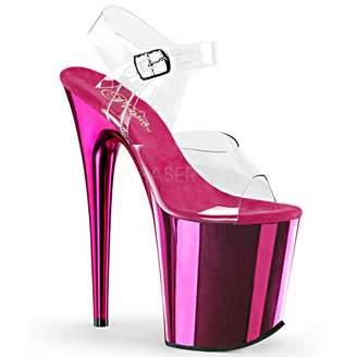 Pleaser USA Women's Flam808/C/Hpch Platform Dress Sandal