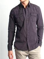 191 Unlimited Men's Slim Fit Stud Embellished Shirt