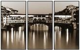 PTM Images Elegant Bridge 3-Panel Wall Art On Laminate Box