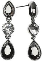 Liz Claiborne Silver-Tone Glass Stone Linear Drop Earrings