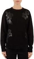 Gerard Darel Unique Floral-Embroidered Sweatshirt