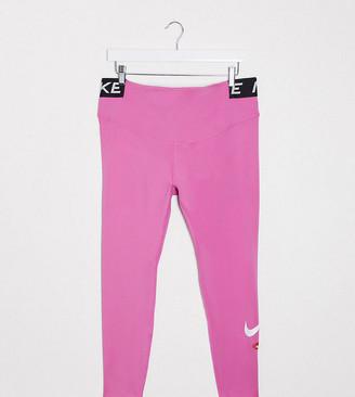 Nike Training Plus One Tight leggings in pink