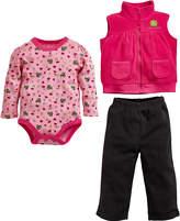 John Deere Pink 'John Deere' Vest Set - Infant